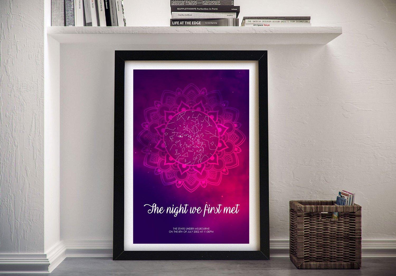 Mandala Star Map Wall Art Great Gift Ideas AU