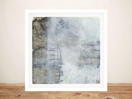 Misty II Framed Abstract Print on Canvas