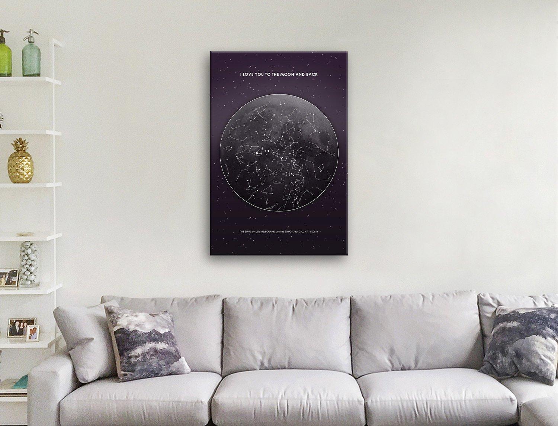 Affordable Custom Moon Star Map Art AU