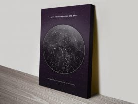 I Love You to the Moon & Back Star Map