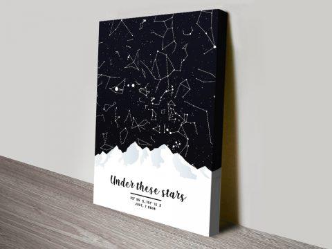 Under These Stars Custom Star Map Art