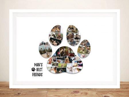 Framed Paw Print Photo Custom Collage