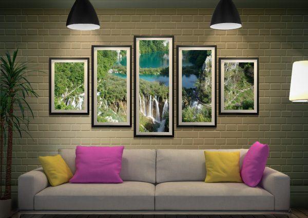 Plitvice Lakes National Park 5-Piece Art Set