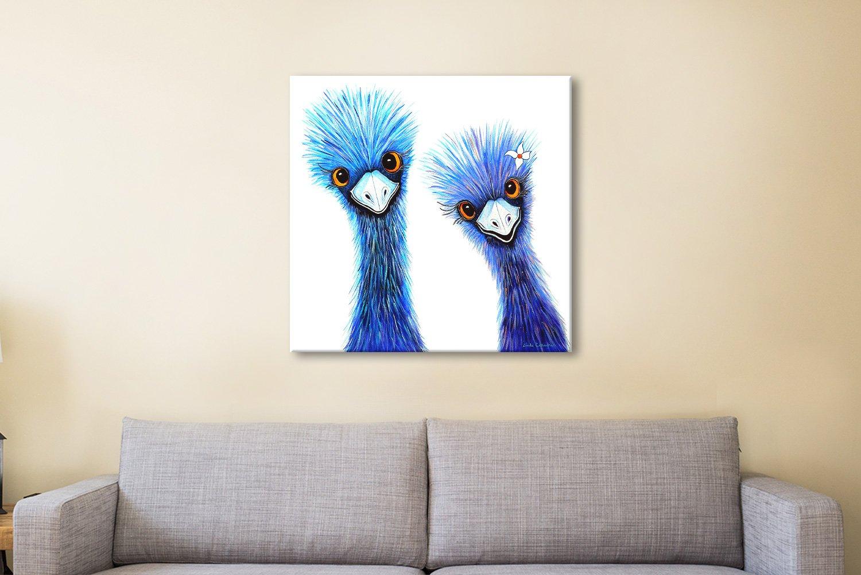Quirky Emus Colourful Australian Animals Art