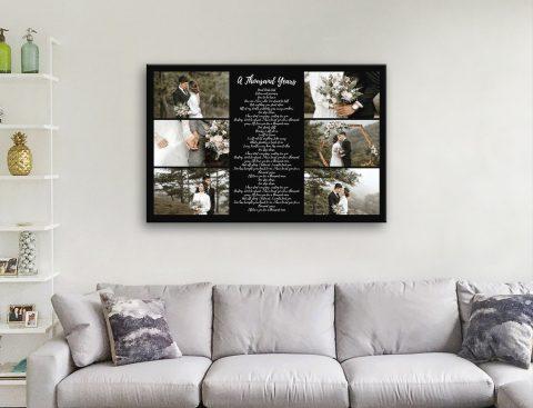 Song Lyrics Collage Wedding Gifts AU