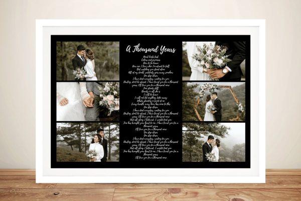 Framed Song Lyrics Photo Collage Art