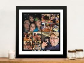Mixed Squares Custom Photo Collage Wall Art