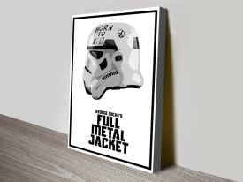 Stormtrooper Helmet Star Wars Canvas Art