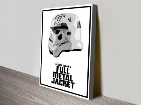 Stormtrooper Helmet Star Wars Canvas Art