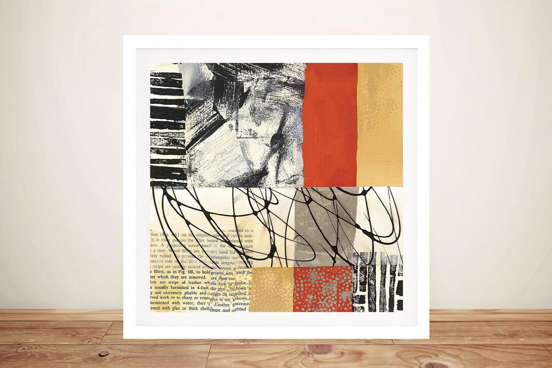 Framed Abstract Jane Davies Art Melbourne
