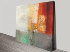 Warmth V Stretched Canvas Abstract Print