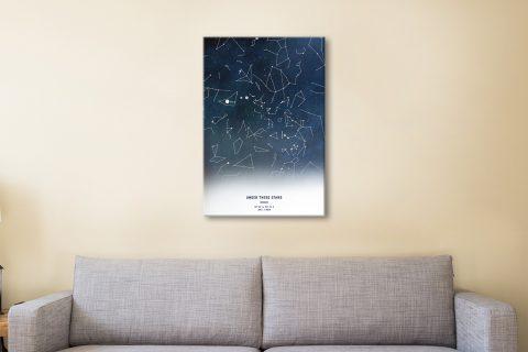 Personalised Stars Map Wall Art