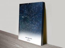 Custom Night Stars Constellation Map Art