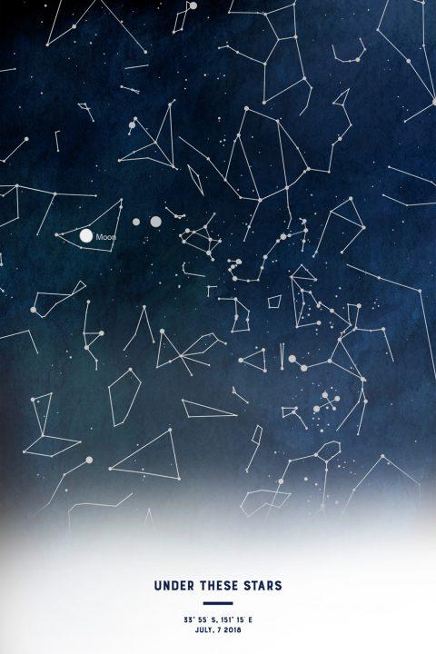 Customised Stars Map Wall Art