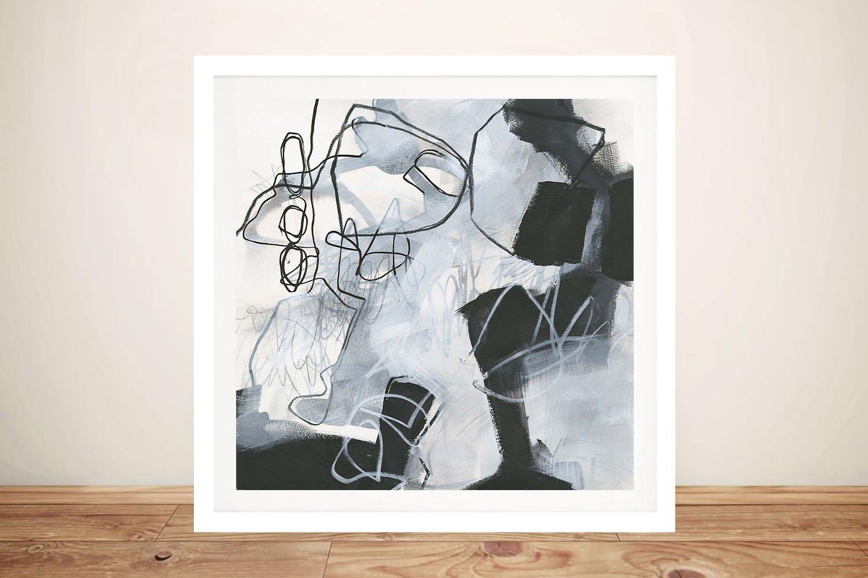 Grey Tones Abstract Art Home Decor Ideas AU