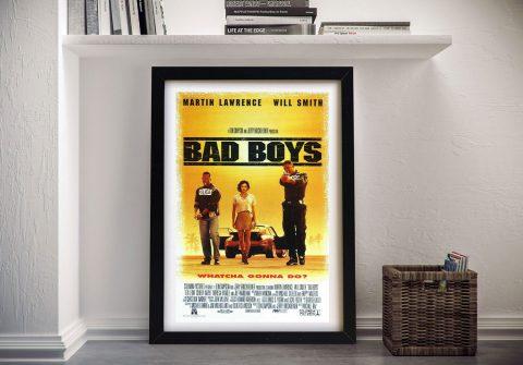 Bad Boys Framed Film Poster for Sale Online