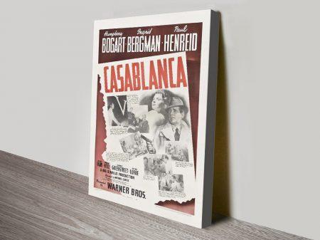 Casablanca Vintage Canvas Movie Poster