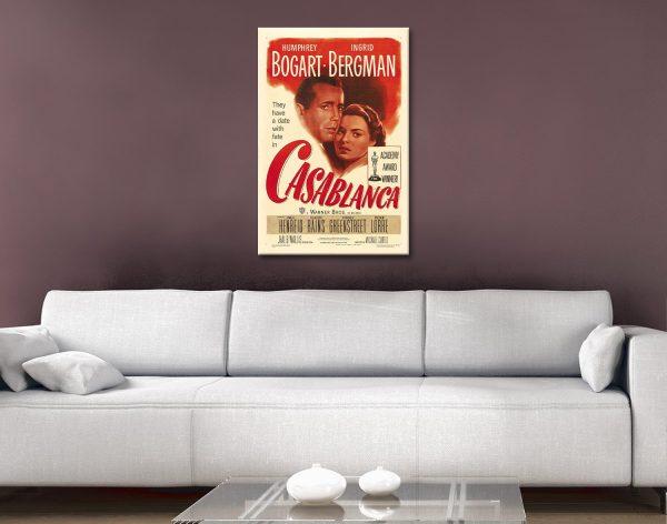 Ready to Hang Casablanca Vintage Poster