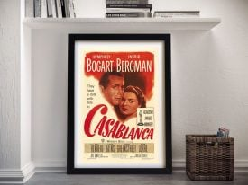 Vintage Casablanca Movie Poster Wall Art