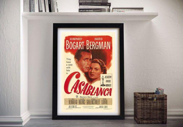 Vintage Casablanca Movie Poster Wall Art