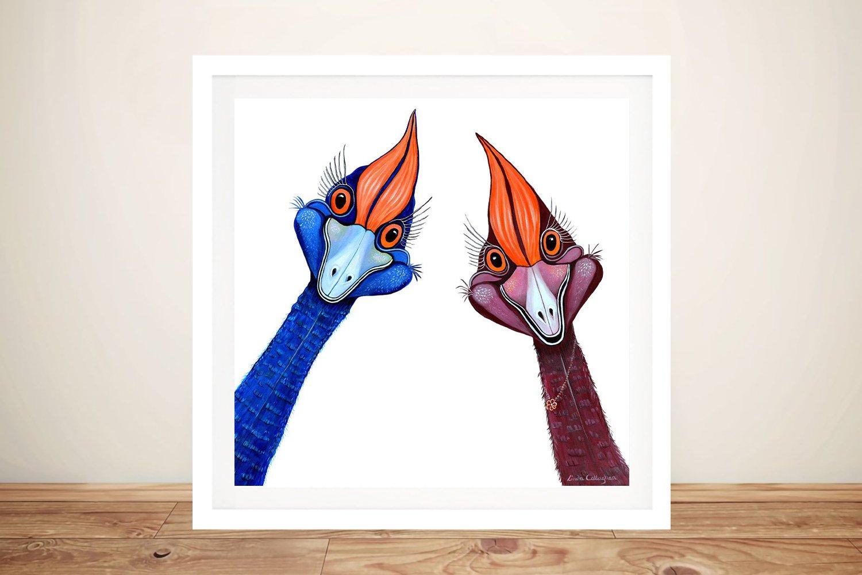 Curious Cassowaries Framed Wall Art Online