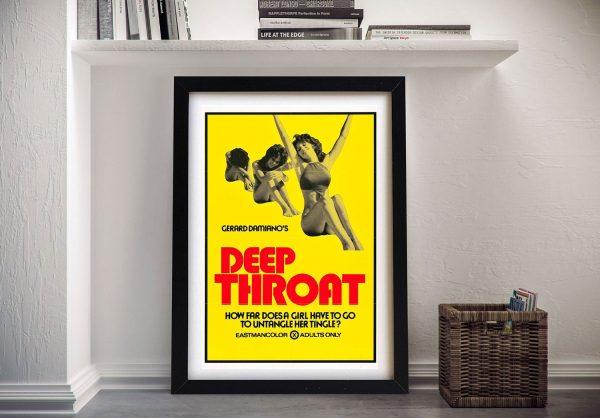 Deep Throat Vintage Movie PosterDeep Throat Vintage Movie Poster