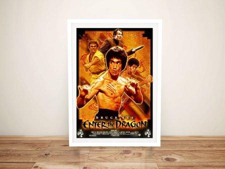 Enter the Dragon Framed Movie Poster