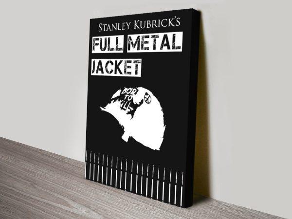 Black & White Full Metal Jacket Poster