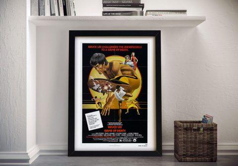 Framed Bruce Lee Kung-Fu Movie Poster AU