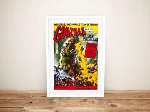 Framed Godzilla Retro Movie Poster for Sale