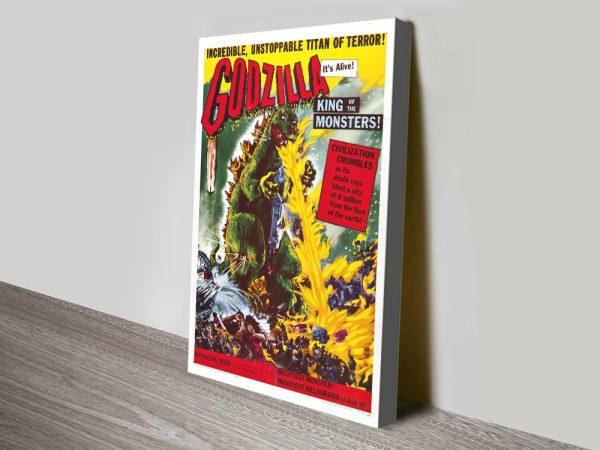 Godzilla Retro Movie Poster Wall Art