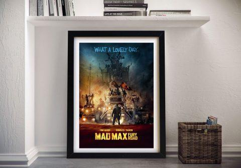 Mad Max Fury Road Movie Poster Print