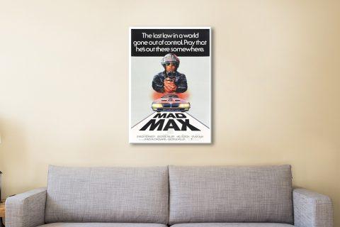 Mad Max Vintage Movie Poster on Canvas