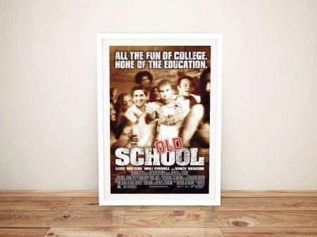 Old School Framed Movie Poster