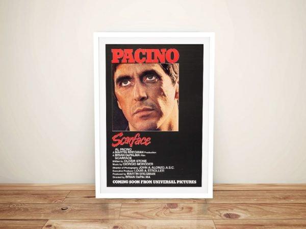 Framed Scarface Al Pacino Poster Print AU