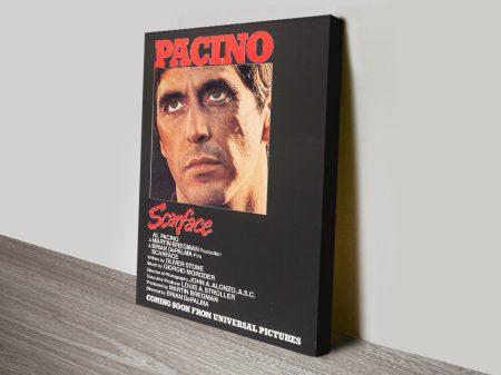 Al Pacino Scarface Canvas Movie Poster
