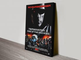 Terminator 3 Movie Poster Print on Canvas