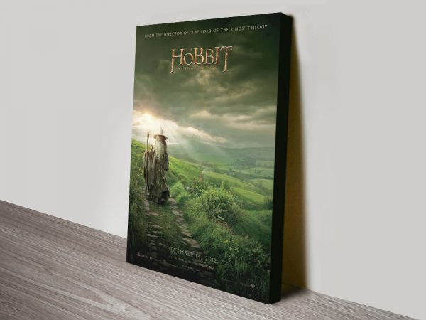 The Hobbit Movie Poster Print on Canvas