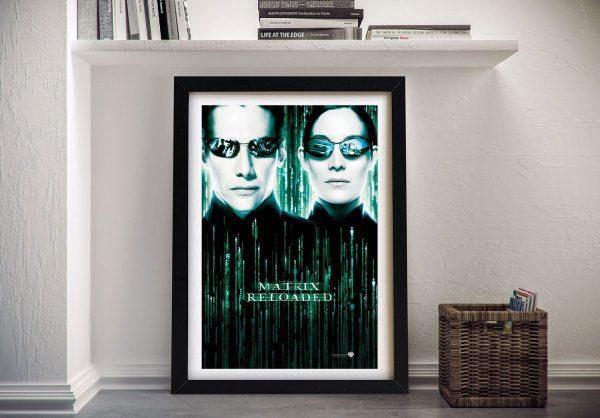 Framed Matrix Reloaded Movie Poster