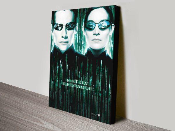 Stretched Canvas Matrix Reloaded Poster AU