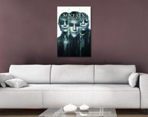 The Matrix Quality Canvas Movie Posters AU