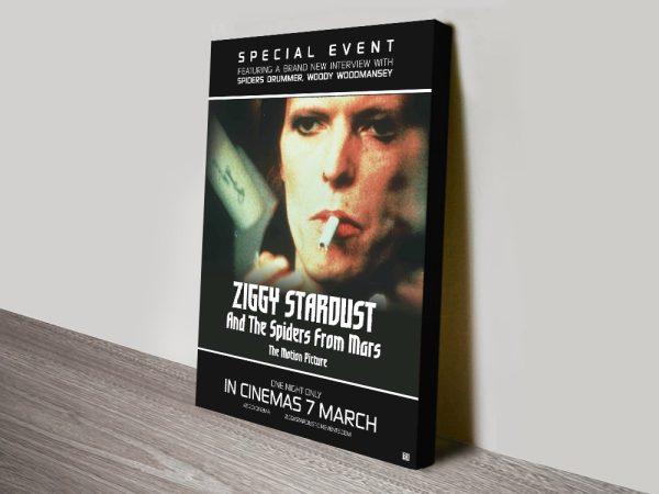 Ziggy Stardust Poster Print on Canvas AU