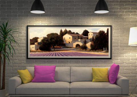 Lavender Fields l Panoramic Canvas Print