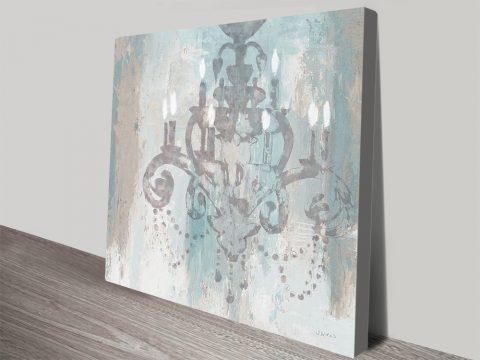 Candelabra Teal ll Affordable Canvas Art