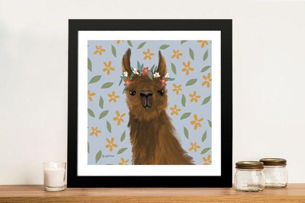 Delightful Alpaca ll Cute Animal Wall Art