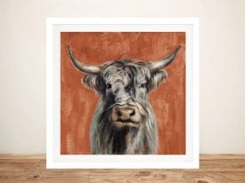 Highland Cow Silvia Vassileva Canvas Art