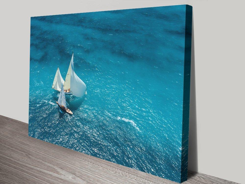 Antibes Ocean Sail Stunning Seascape Art