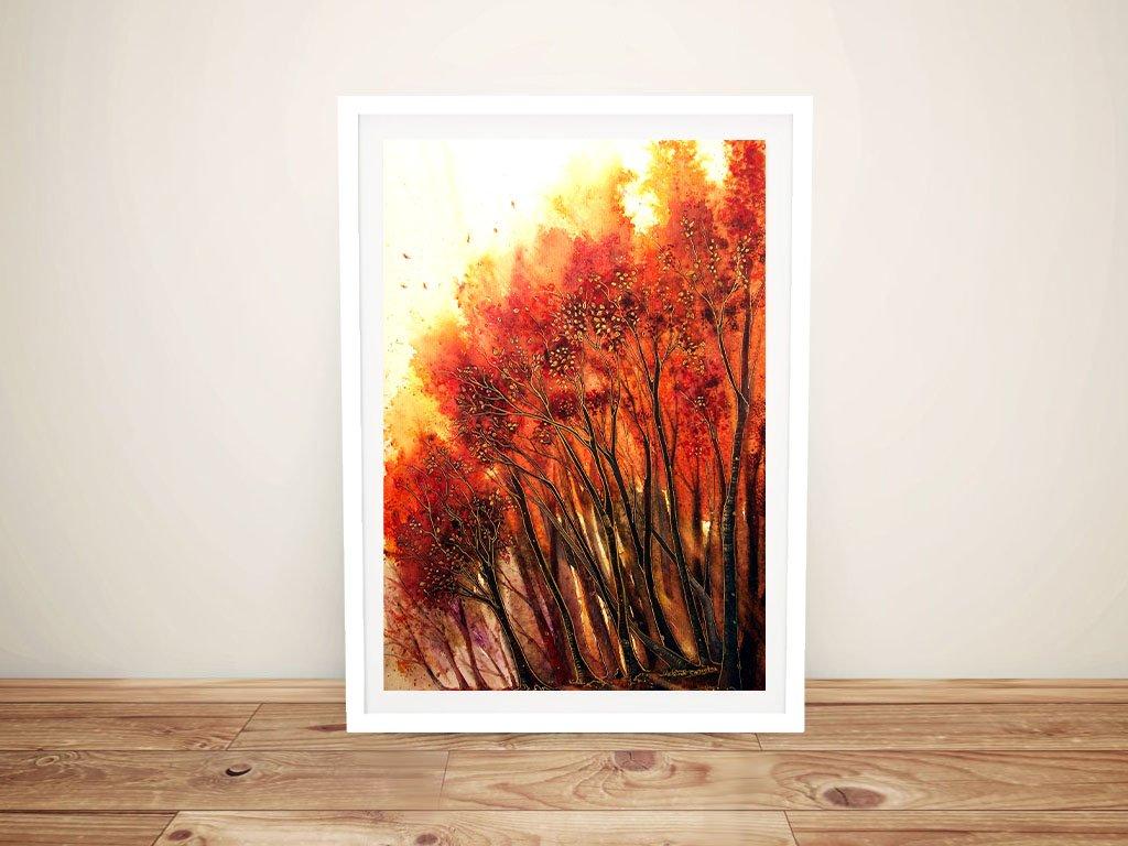 Autumn Blaze Framed Linda Callaghan Art