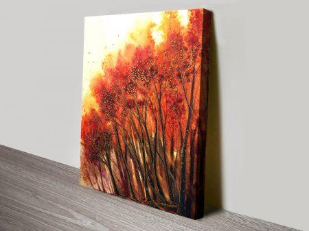 Autumn Blaze Colourful Print on Canvas