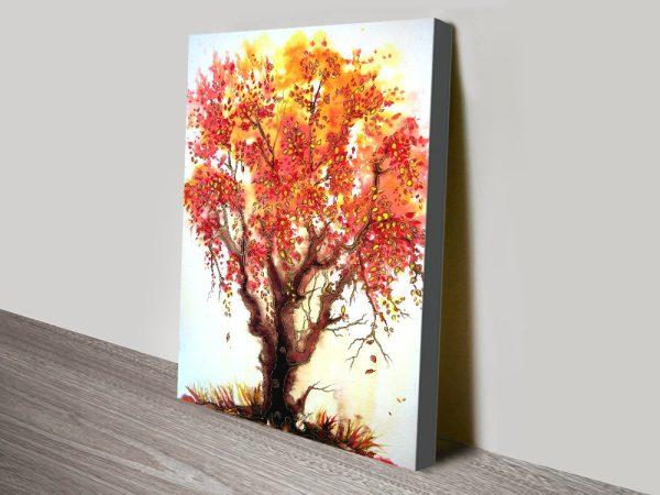 Autumn Jewels Stretched Canvas Wall Art AU